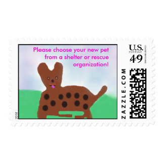Pets From Shelters Stamp