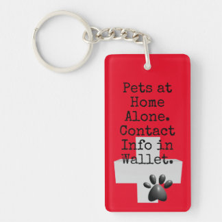 Pets ICE Contact Alert Keychain