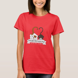 Pets In Distress Women's Red T-Shirt