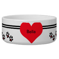 Pets Leave Footprints On Our Hearts Bowl
