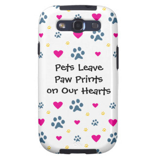 Pets Leave Paw Prints on Our Hearts Samsung Galaxy S3 Covers