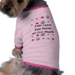 Pets Leave Paw Prints on Our Hearts Doggie Tshirt