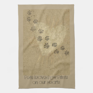 Pets leave Paw Prints on our Hearts Hand Towels