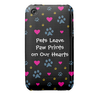 Pets Leave Paw Prints on Our Hearts iPhone 3 Cover