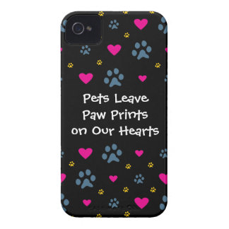 Pets Leave Paw Prints on Our Hearts iPhone 4 Case