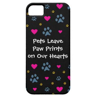 Pets Leave Paw Prints on Our Hearts iPhone SE/5/5s Case