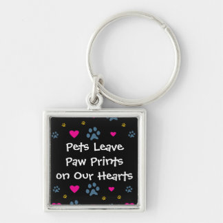 Pets Leave Paw Prints on Our Hearts Key Chains