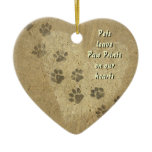 Pets leave Paw Prints on our Hearts Christmas Ornaments