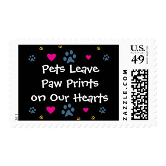 Pets Leave Paw Prints on Our Hearts Postage