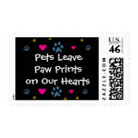 Pets Leave Paw Prints on Our Hearts Stamp