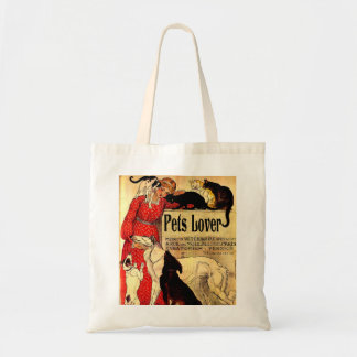 PETS LOVERS,I LOVE PETS BUDGET TOTE BAG