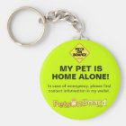 Pets On Board Keychain Home Alone-Yellow