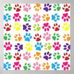 Pets paw print pattern