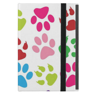 Pets paw print pattern iPad mini covers
