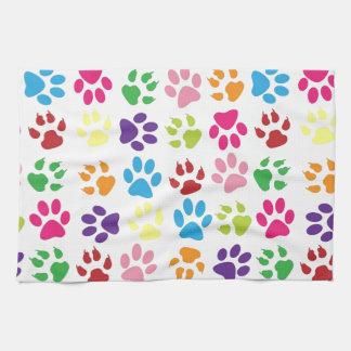 Pets paw print pattern kitchen towel