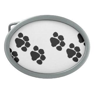 Pets Paw Prints Belt Buckle