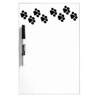 Pets Paw Prints Dry-Erase Board