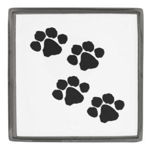 Pets Paw Prints For Animal Lovers Gunmetal Finish Lapel Pin