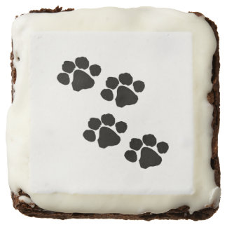 Pets Paw Prints For Animal Lovers Square Brownie