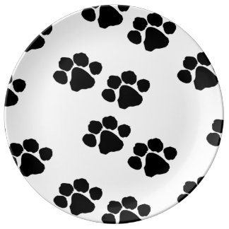 Pets Paw Prints For Animal Lovers Plate