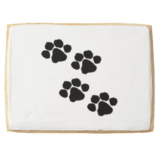 Pets Paw Prints For Animal Lovers Shortbread Cookie
