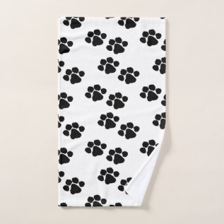 Pets Paw Prints Hand Towel at Zazzle
