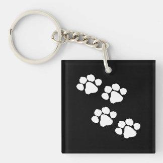 Pets Paw Prints Keychain