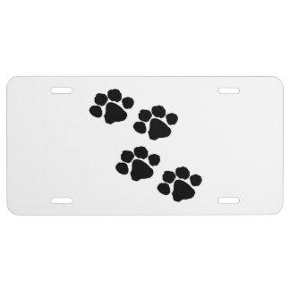 Pets Paw Prints License Plate