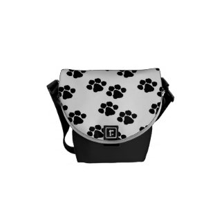 Pets Paw Prints Messenger Bag