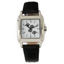Pets Paw Prints Wristwatch
