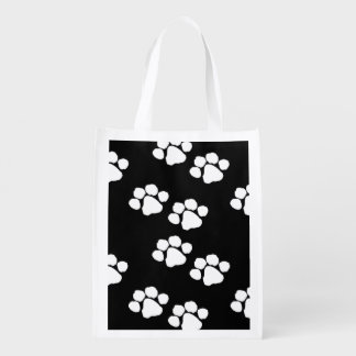 Pets Paw Prints Reusable Grocery Bags