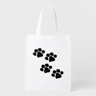 Pets Paw Prints Grocery Bag