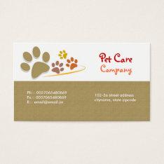 Pets Pet Care Business Card at Zazzle