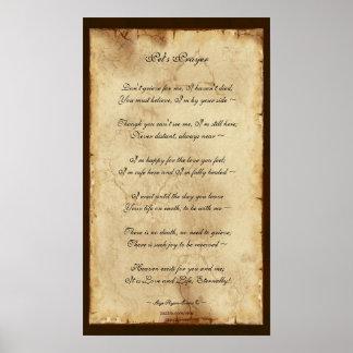 """""""Pet's Prayer"""" Memorial Poem Parchment Poster"""