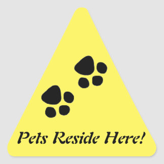 Pets Reside Here Safety Sticker