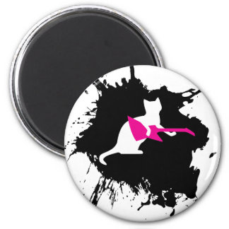 Pets Rock - Kitty 2 Inch Round Magnet