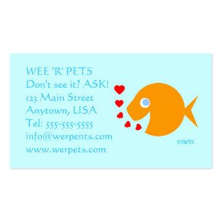 Pets Tropical Fish Shop Blue Eyes Goldfish Business Card
