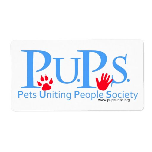 Pets Uniting People Society Stickers Label