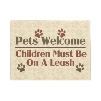 Pets Welcome Humor Doormat