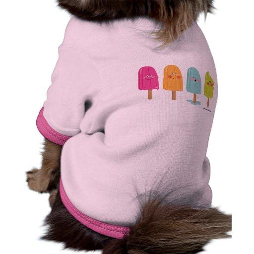 petshirt del helado camiseta de perrito