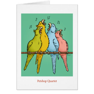 Petshop Quartet Card
