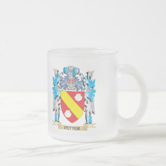 Petter Coat of Arms - Family Crest 10 Oz Frosted Glass Coffee Mug