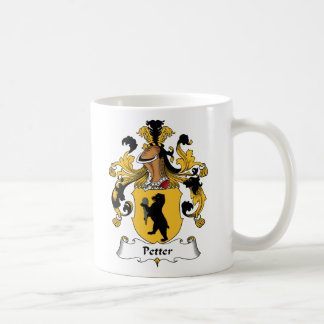 Petter Family Crest Classic White Coffee Mug