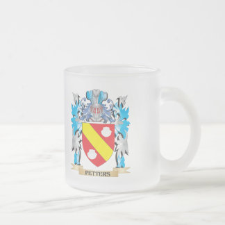 Petters Coat of Arms - Family Crest 10 Oz Frosted Glass Coffee Mug