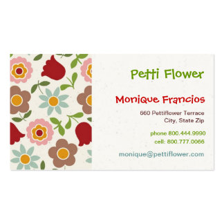 Petti Flower - Cream - Business Card