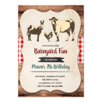 Petting zoo birthday party invitation