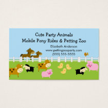 Petting Zoo Business Card