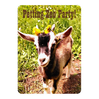 Petting Zoo Party! Customize this invitation. Card