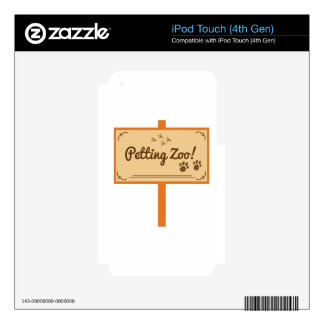 Petting Zoo Skins For iPod Touch 4G