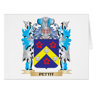 Pettit Coat of Arms - Family Crest Card